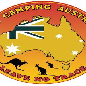 Free Camping Australia Bumper Sticker