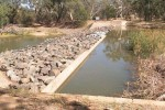 Lake Cargelligo Weir during drought